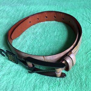 Joan and David leather belt